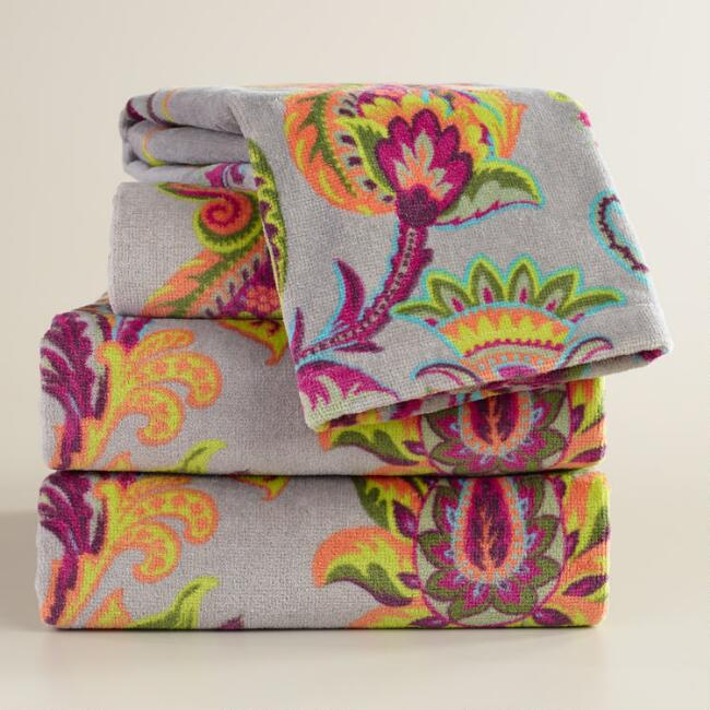 Sahara Bloom Bath Towel Collection