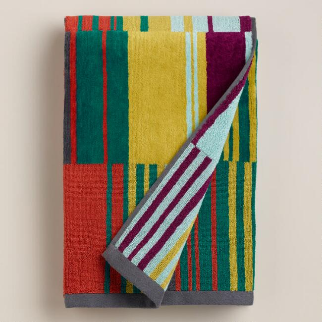 Off-Place Striped Isla Jacquard Bath Towel