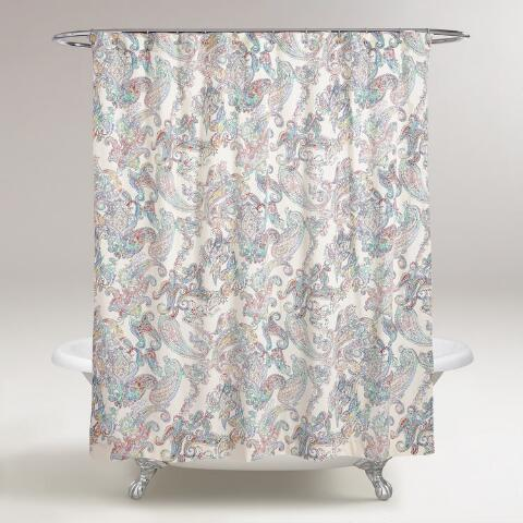 Multicolor Paisley Shower Curtain Previous V2 V1