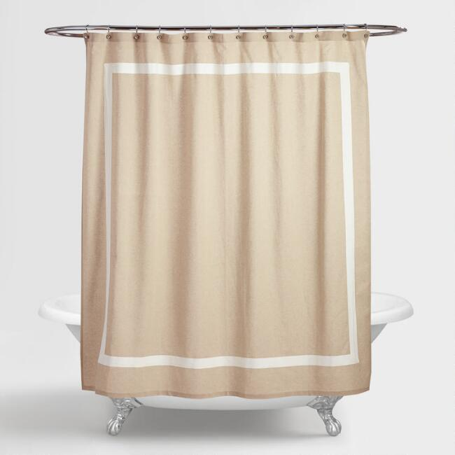 Amalie Linen Shower Curtain