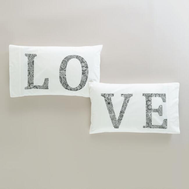Love Pillowcases, Set of 2