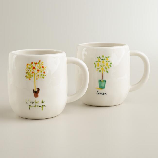 Herb Garden Mugs, Set of 2
