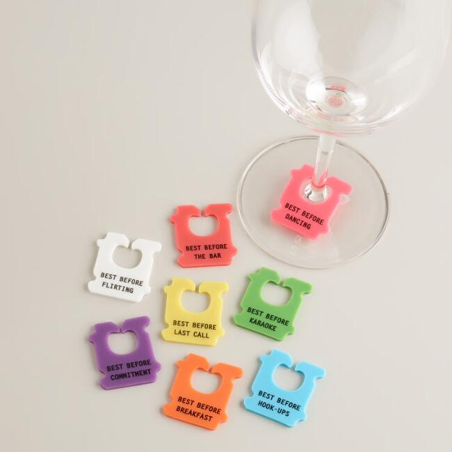 Bread Tag Wine Charms, 8-Pack