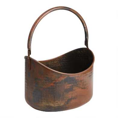 Hammered Copper Party Tub