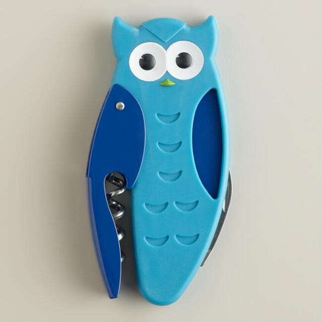 Owl Corkscrew Bottle Opener