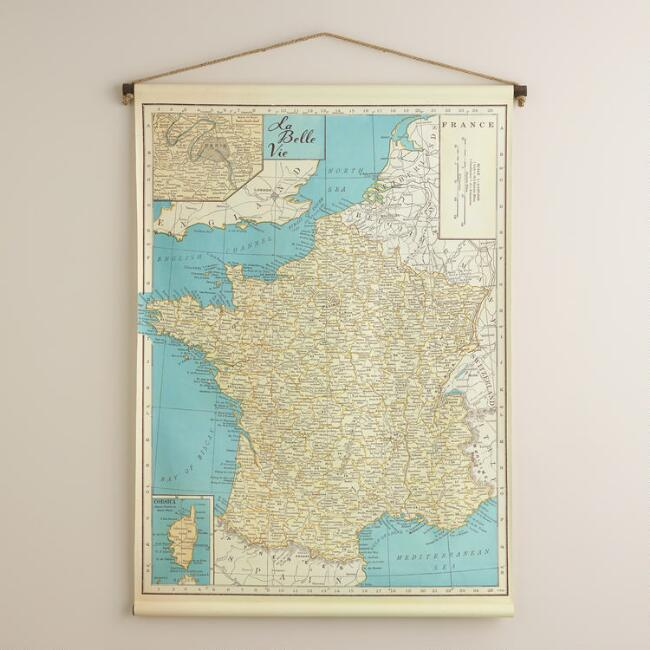 France Map Tapestry