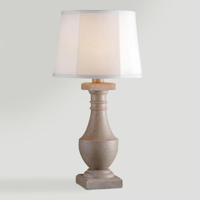 Concrete Urn Outdoor Table Lamp