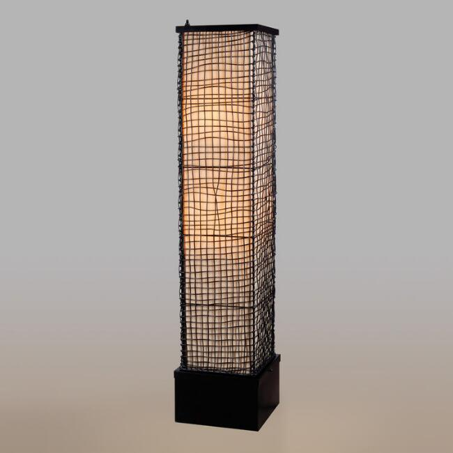 Rattan Lattice Outdoor Alana Floor Lamp