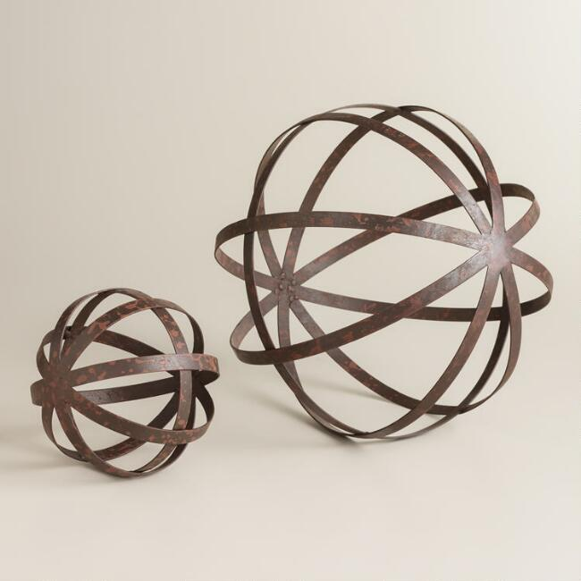 Iron Sphere Decor