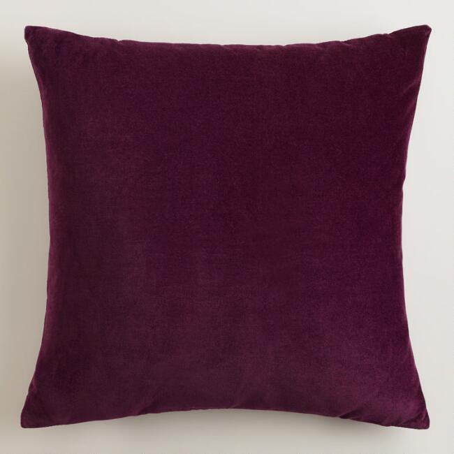 Potent Purple Velvet Throw Pillows