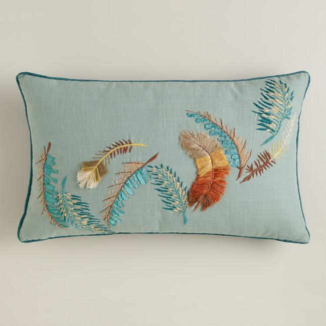 Feathers Lumbar Pillow