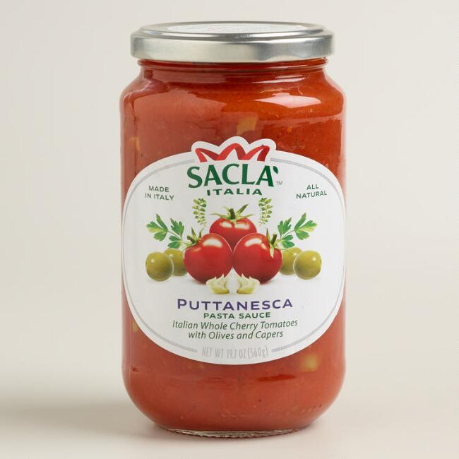 Sacla Puttanesca with Olives Pasta Sauce