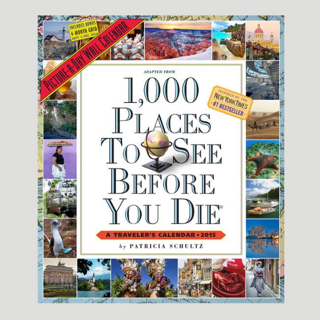 1000 places to see before you die 12 month wall calendar world market