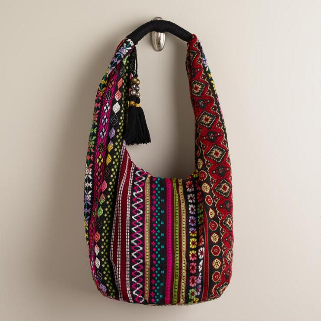 Oversized Woven Hobo Bag