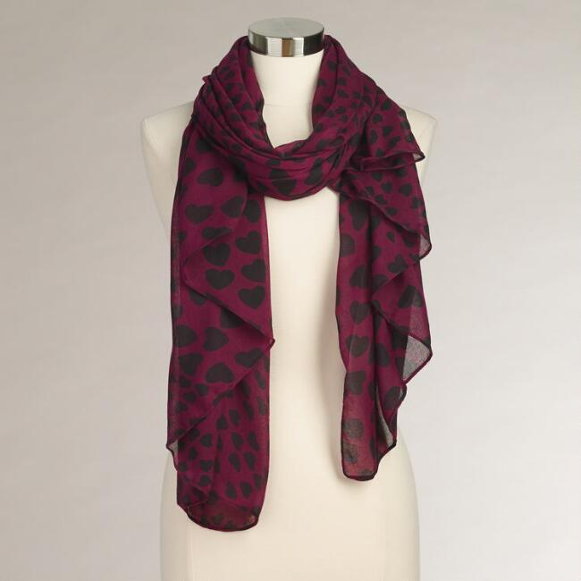Purple Hearts Scarf
