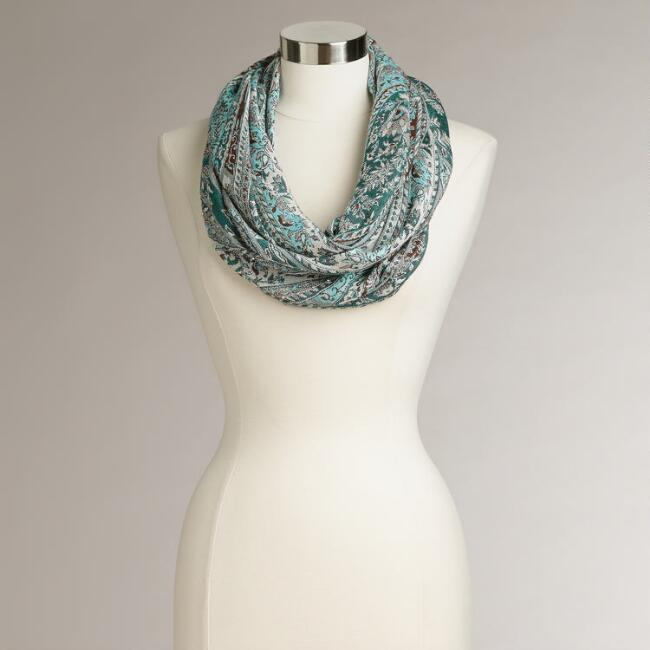Cool Jacquard Infinity Scarf