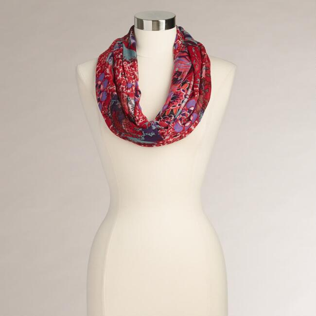 Multicolored Wild Flower Infinity Scarf