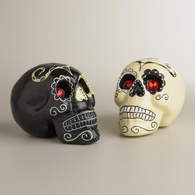Jewel Eye Skulls, Set of 2
