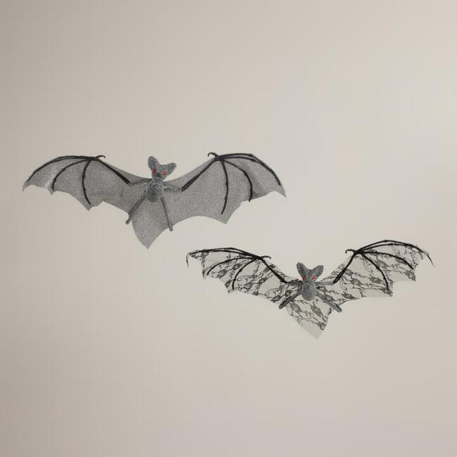 Fancy Fabric Bats,  Set of 2