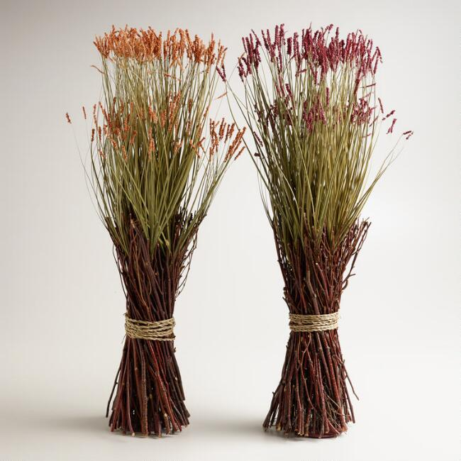 Autumn Grass Stacks, Set of 2