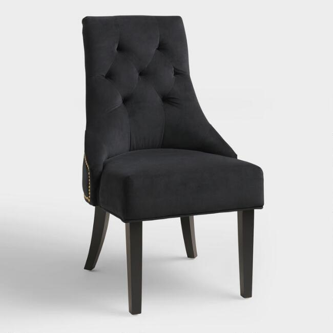 Black Lydia Dining Chairs, Set of 2