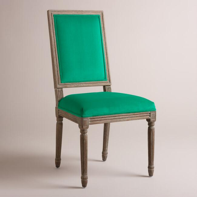 Emerald Paige Square Back Dining Chairs, Set of 2