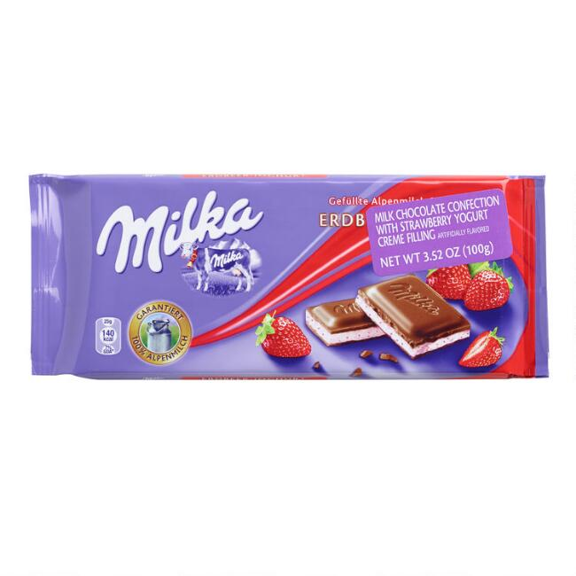 Milka Strawberry Yogurt Milk Chocolate Bar