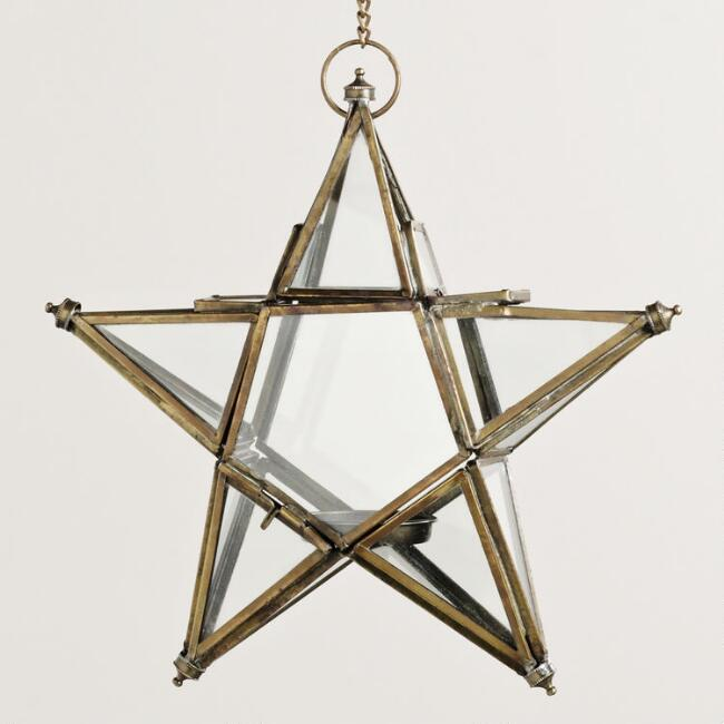Small Clear Star  Lantern