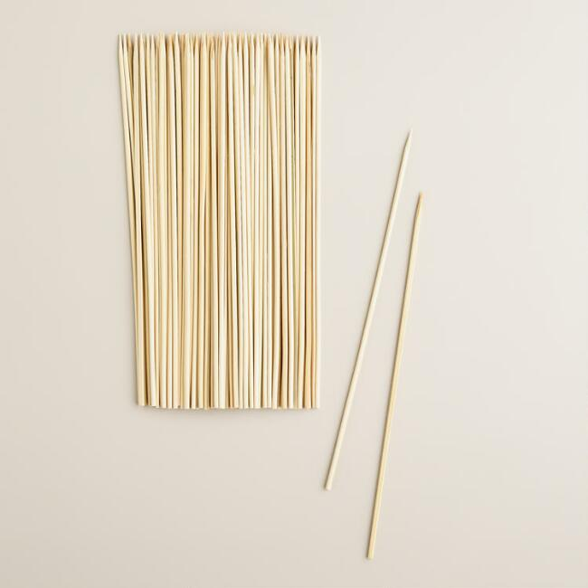 Round Bamboo Grilling Skewers, 100-Count