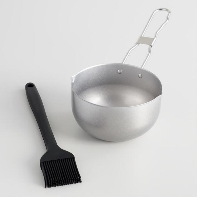 Barbecue Sauce Basting Brush and Flavoring Pot