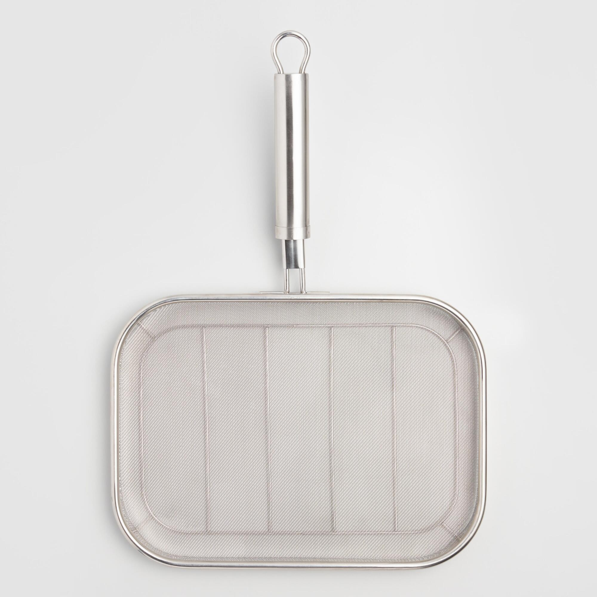 Fine Stainless Steel Mesh Grilling Pan by World Market