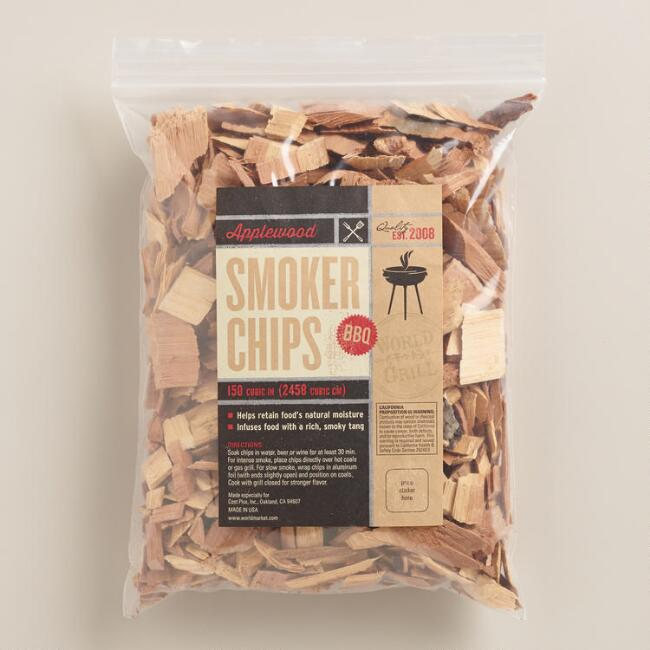 Apple Wood Grilling Chips, Set of 2