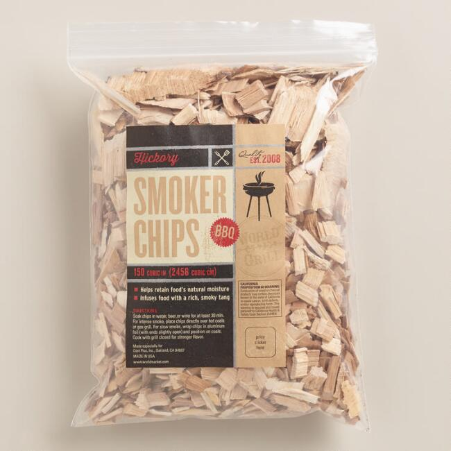 Hickory Wood Grilling Chips, Set of 2