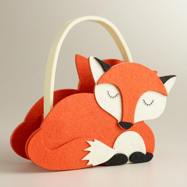 Fox Harvest Felt Basket