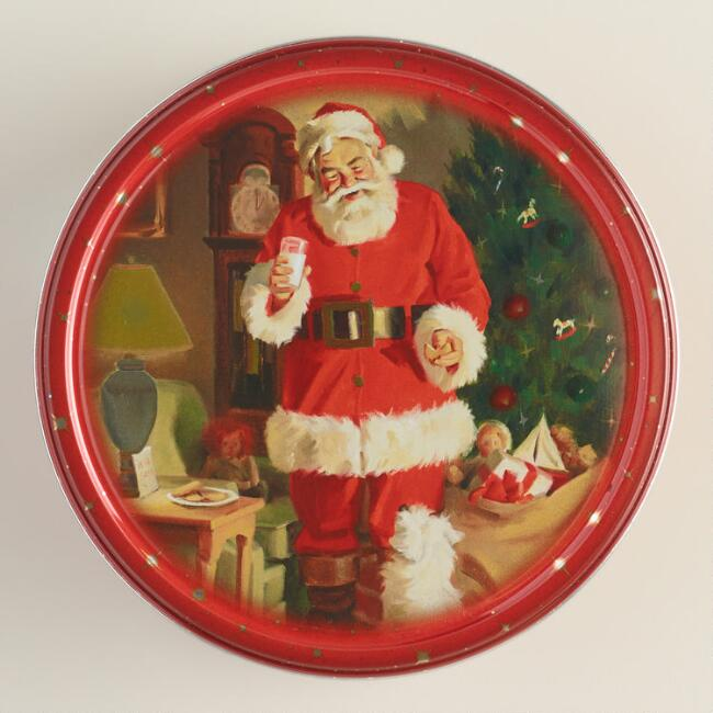 Jacobsen's Santa Butter Cookie Tins
