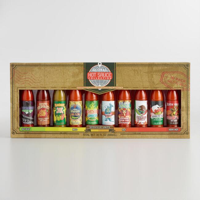 Global Hot Sauce Gift Set, 10-Pack