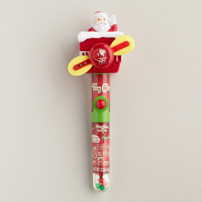 Santa Claus Candy Light Up Fan