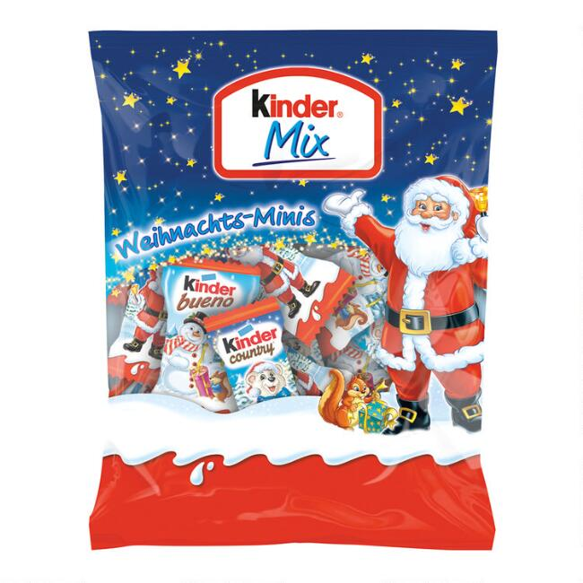 Kinder Christmas Mini Chocolate Mix Bag
