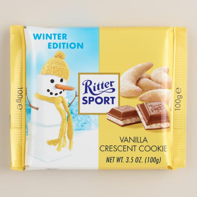 Ritter Sport Vanilla Crescent Cookie Chocolate Bar