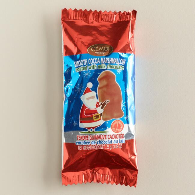 Cemoi Marshmallow and Chocolate Santa, Set of 9