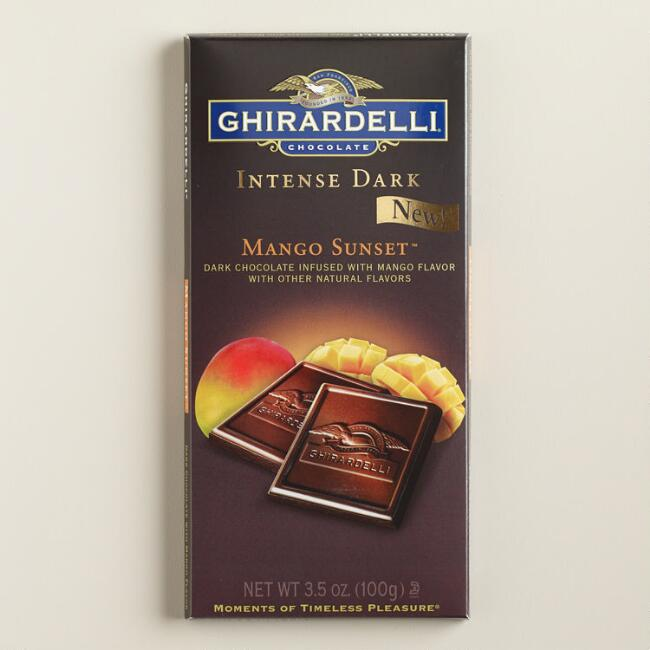 Ghirardelli Mango Sunset Intense Dark Chocolate Bar Set of 2