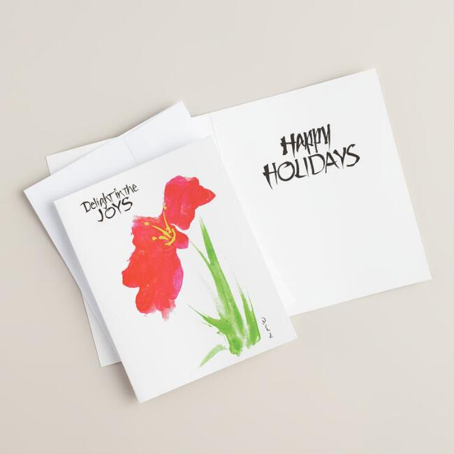 Delight in the Joys Boxed Holiday Cards,  Set of 15