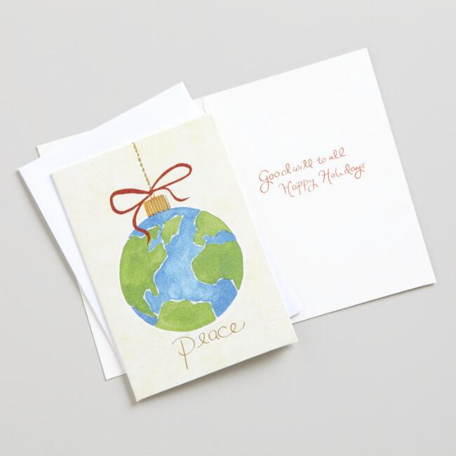 One World Peace Boxed Holiday Cards, Set of 15