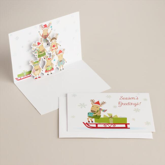 Reindeer Tier Boxed Holiday Cards, Set of 8