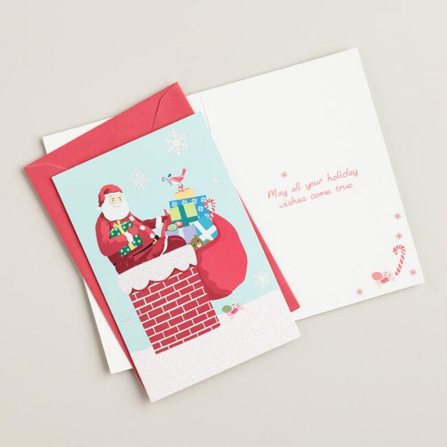 Just Santa in the Chimney Boxed Holiday Cards, Set of 15