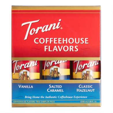 Mini Torani Coffeehouse Syrup Sampler 3 Pack