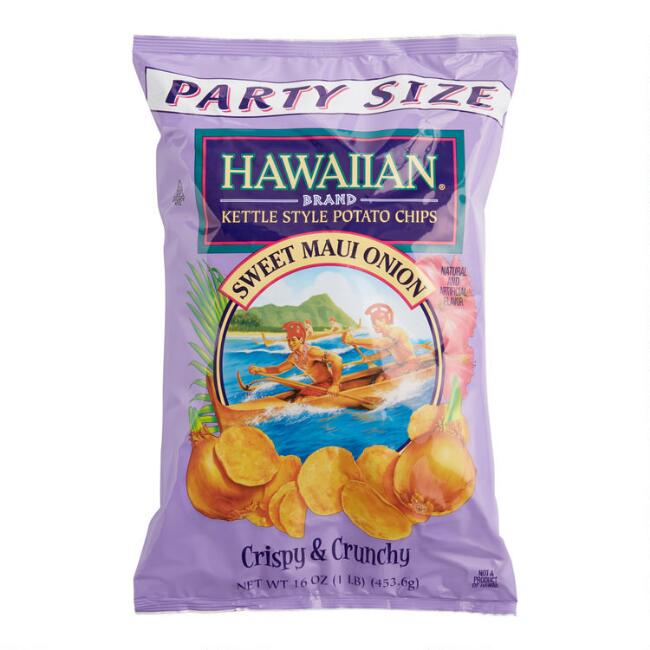 Hawaiian Sweet Maui Onion Kettle Chips Party Size Set of 10