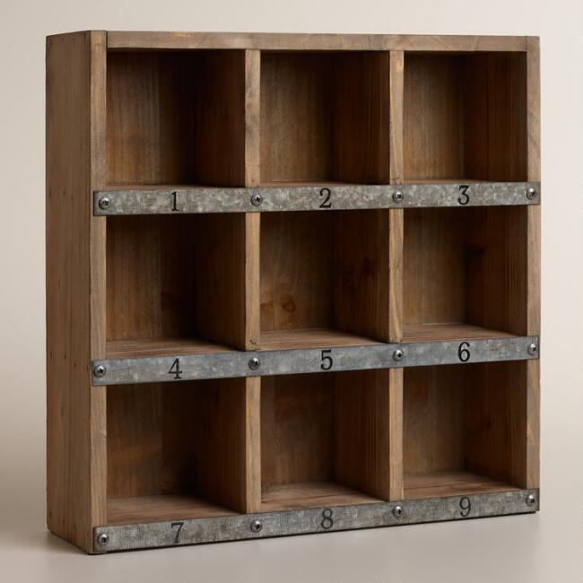 Wood And Metal Owen Numbered Desk Cubby World Market