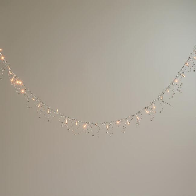 Silver Bead LED Garland Lights