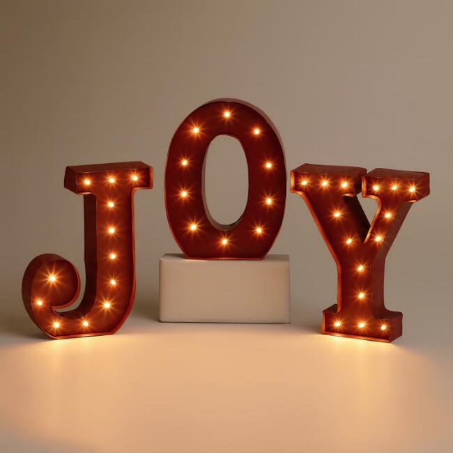 'JOY' Battery-Operated Marquee Lights
